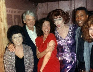 Charles Pierce and cast members from Designing Women at Studio One