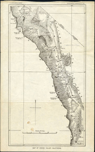 Calisphere Map Of Owens Valley California