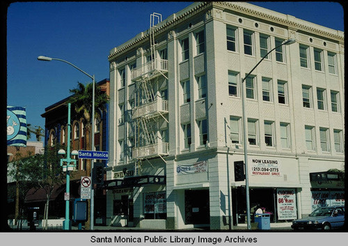 301 Santa Monica Blvd. (on the corner of the Third Street Promenade) originally known as the Junipher Building designed by A.C. Martin, built in 1922