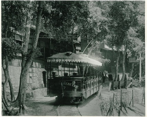 Pacific Electric Car, at Mt. Lowe Pavillion
