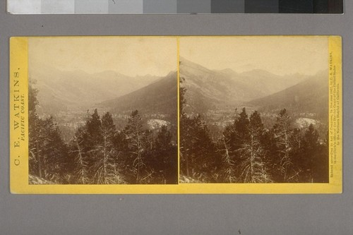 [Sierra Nevada mountain valley, probably in the Yosemite or Hetch Hetchy vicinity]