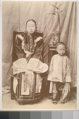 [Unidentified Chinese woman and boy]