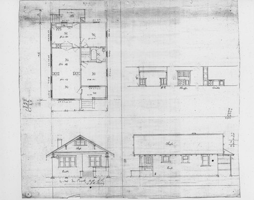 Calisphere architectural drawing of a santa rosa craftsman home architectural drawing of a santa rosa craftsman home prepared for mr cook by j c lindsay malvernweather Choice Image