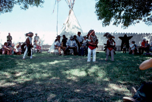 Grindstone Indian dancers at the Orland Fairgrounds