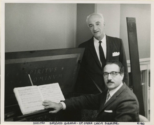 Frank V. de Bellis with Maestro Vincenzo Giannini