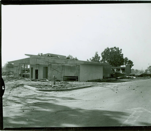 View of construction of the clubhouse at Chester Washington Golf Course