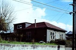 Unidentified house in Sebastopol, California, about 1975