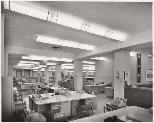 [Interior general view 3rd floor offices Title Insurance and Trust Company, 433 South Spring Street, Los Angeles] (4 views)