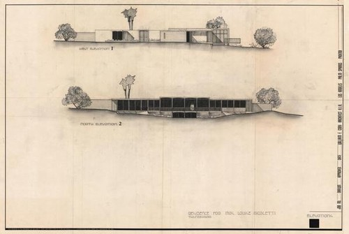 Louise Durham Nicoletti Elevations Drawing, 1964