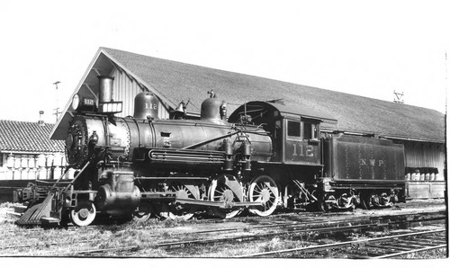 North Western Pacific (NWP) #112 Railroad Engine at the Petaluma ...