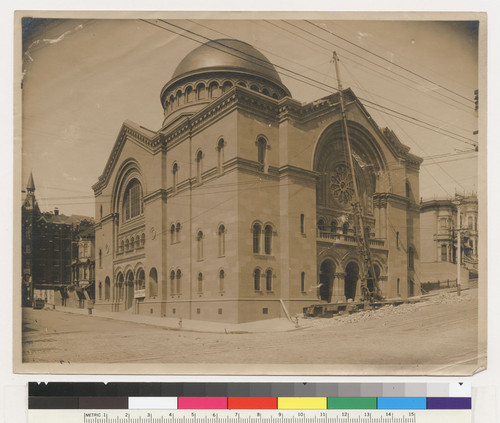 [Temple of Congregation Sherith-Israel. California and Webster Sts.]