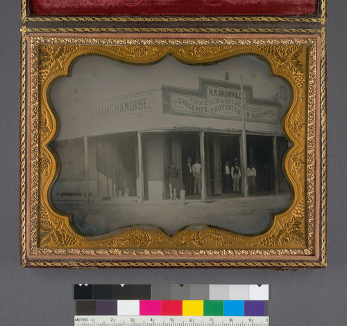 [H.N. Brown and Co. general merchandise store] (Detail - image side only.)
