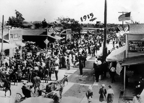 Independence Day in Bellflower, 1915