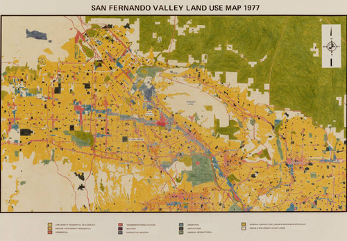 Calisphere San Fernando Valley Land Use Map 1977