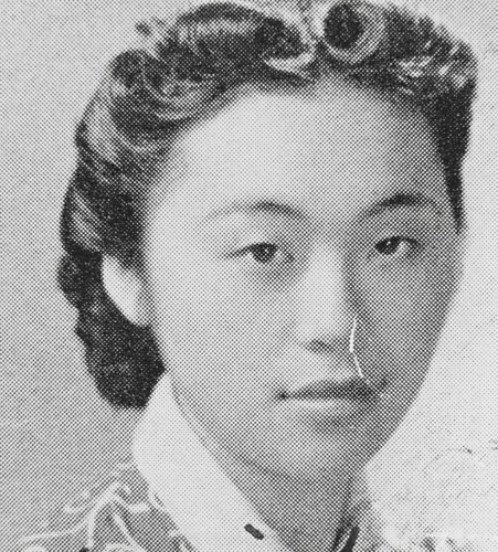 "Miyoko Iwamoto, Lompoc High School, Class of 1939. Miyoko was known as ""Miyo."" Her family was among those who were evacuated from the California coast in 1942"