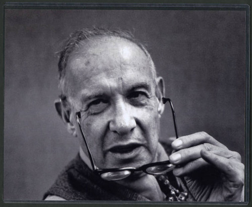 Close-up photograph of Peter Drucker