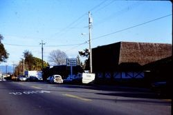 Shops and merchants on Healdsburg Avenue looking east, about 1970s