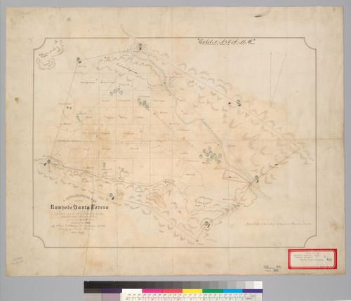 Santa Teresa California Map.Calisphere A Topographical Map Of The Rancho De Santa Teresa