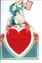 Valentine Greeting with message on back