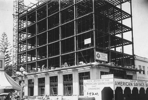 Calisphere kraemer building under construction anaheim for Building under construction insurance