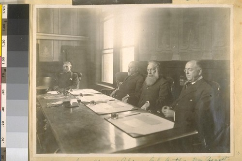 Jesse B. Cook--Chief of Police--Col. Cutter, Mr. Leggett and Hugo Keil. Commissioners