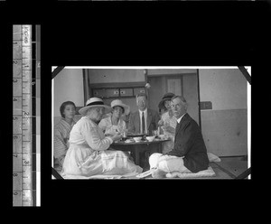 Farewell dinner for American Baptist missionaries, Shantou, Guangdong, China, ca.1921-1923