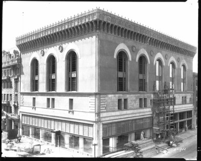Buildings Repair and Reconstruction - Stockton: Stages of construction of Pacific Telephone and Telegraph building, 505 1st St