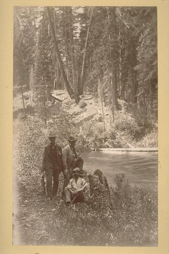 Our Mt. Shasta party on the McCloud. 1883