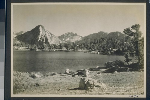 Bull Frog Lake, East Vidette, Deer Horn and West Vidette Mountains