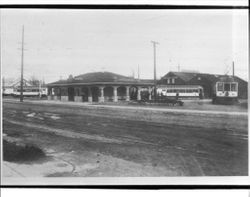 P&SR railway depot station in Sebastopol, about 1918