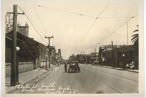 State Street South, Santa Barbara Quake, June 29-25 [June 29, 1925]