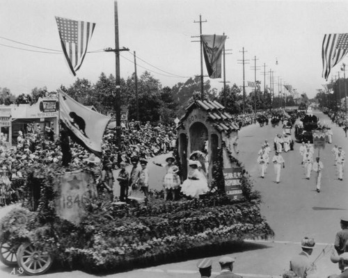 cb6181769 Calisphere: Shriners parade float