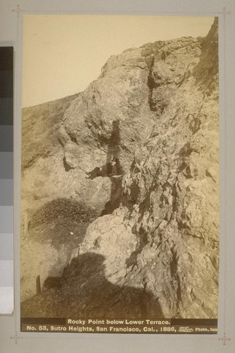 No. 53 - Rocky Point below Lower Terrace - Sutro Heights, San Francisco, Cal., 1886