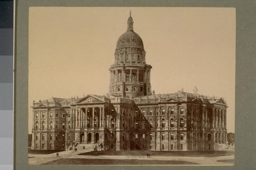 "State Capitol Building, Colorado. 239. [Hand-written caption: ""Denver, The Capitol."" Photograph by W.H. Jackson.]"
