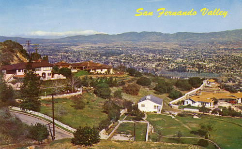 Panorama of San Fernando from Mulholland Drive