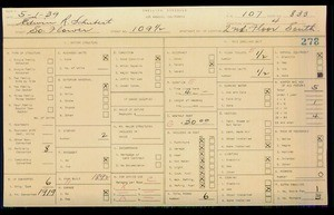 WPA household census for 109 S FLOWER, Los Angeles
