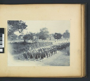 Military Parade, Punjab, India, ca. 1900