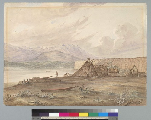 [Indian encampment along Puget Sound, Washington?]