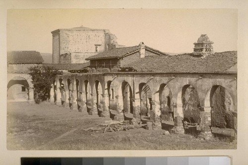 [Mission San Juan Capistrano, with row of archways]