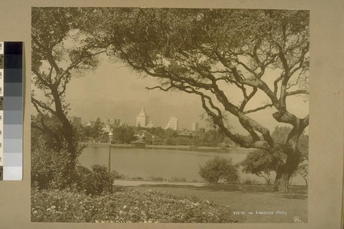 View of Lakeside Park [Lakeside Park is located south of Grand Avenue, and west of Perkins between east and west arms of Lake Merritt.]