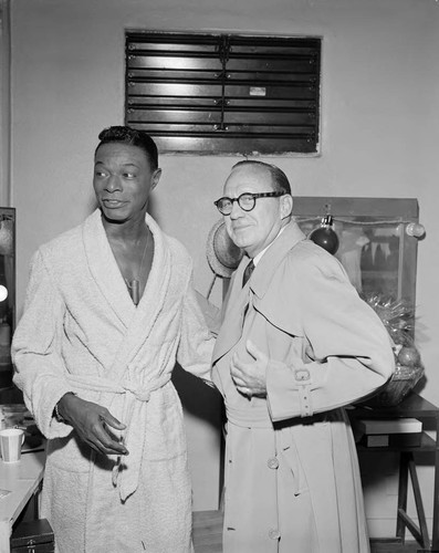 calisphere photograph of nat king cole and jack benny