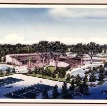 Architectural drawing of Gold River Racquet Club