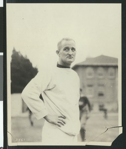 Bill Hunter, University of Southern California assistant football coach, USC campus, Los Angeles, 1923