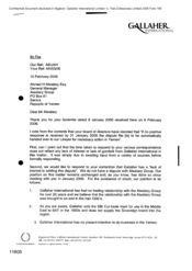 [Letter from Andrew Bingham to Ahmed H Alwatary regarding Gallaher International]