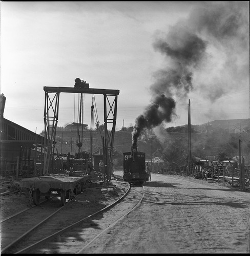 Narrow-gauge railway at the Boleo Mining Company at Santa Rosalía