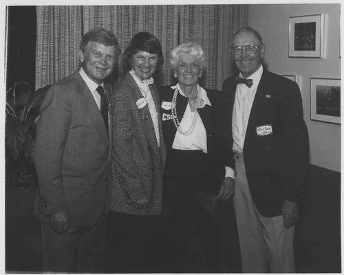 "Dr. and Mrs. William ""Del"" Stelck and Dr. and Mrs. Ralph Prator, 1983"