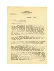Letter from J. C. Humphreys to Isidore B. Dockweiler, February 7, 1917