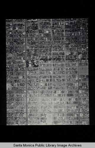 Aerial survey of the City of Santa Monica north to south (north is right side of image) Palisades Avenue to Arizona Avenue (Job#C235-C4) flown in June 1928