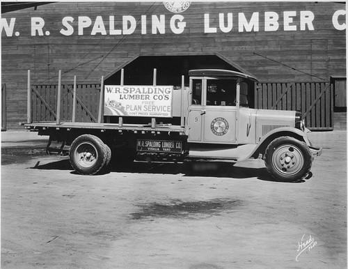 Calisphere: Spalding Lumber Truck, Visalia, Calif , 1920s