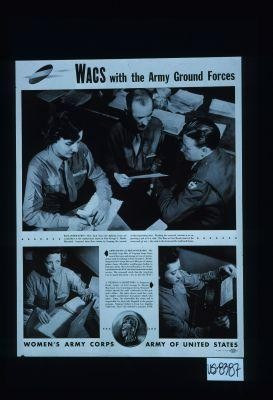 WACS with the Army Ground Forces. Reclassification - men back from the fighting front are reclassified at the replacement depot at Fort George C. Meade ... a general's secretary